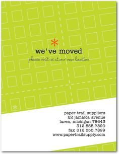moving postcard clear view pinterest moving announcements and