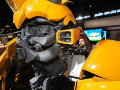 """Bumble bee the car – Visitors to the Chevrolet show at this year's Chicago Auto Show (Friday through Feb. 22) will be treated to an out-of-this-world vehicle show – the automotive stars from the upcoming DreamWorks footage and Paramount footage unleash, """"Transformers: Revenge of the Fallen."""""""