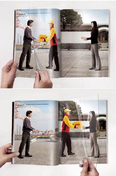 Double Page Magazine - International courier service express delivery guaranteed.