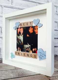 Best Friends Frame Personalised Friends by MagicWonderCreations Scrabble Crafts, Scrabble Frame, Scrabble Art, Birthday Gifts For Best Friend, Best Friend Gifts, Best Friend Frames, Diy Gifts Just Because, Presents For Friends, Bff Gifts