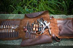 Leather Tool Roll | Sweet Juniper WoodCraft
