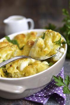 Chou-fleur grillé et sauce au roquefort