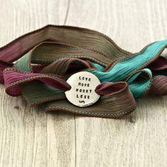 Love More Worry Less Wrap Bracelet Boho Boho by ClairAshley