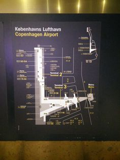 CPH airport map