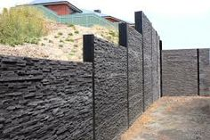 Retaining Wall Decorating Ideas Best Picture For Landscaping Retaining Walls house For Your Taste Yo Concrete Sleeper Retaining Walls, Gravity Retaining Wall, Concrete Sleepers, Backyard Retaining Walls, Retaining Wall Blocks, Sleeper Wall, Compound Wall Design, Garden Blocks, Concrete Planters