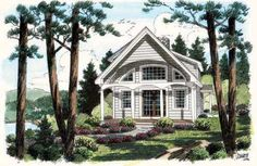Small Victorian Cottage Plan | 1093 sq ft. 2 bed 2 bath | House Plan chp-30419 COOLhouseplans.com