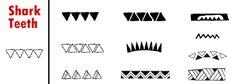 Polynesian Tattoo Symbols  Meanings – Shark Teeth