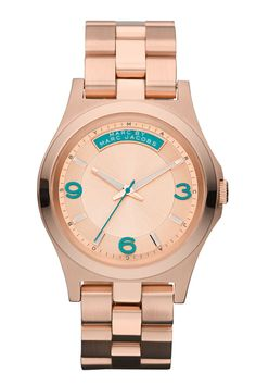 MARC BY MARC JACOBS Baby Dave Watch    Posted on Sep 20, 2012    MARC BY MARC JACOBS simple, sleek design, presented new series of Baby Dave watches. Silver stainless steel with fluorescent pink, retro, rose gold and fog black three colors.