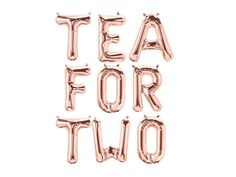 TEA FOR TWO Balloon Letters Tea for Two Tea Party Balloons