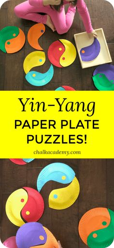 Yin-Yang Paper Plate Puzzle - A Fun Chinese Activity for Kids! Yin-Yang Paper Plate Puzzle - A Fun Chinese Activity for Kids! Chinese New Year Crafts For Kids, Chinese New Year Activities, Chinese New Year Party, Chinese Crafts, New Years Activities, Winter Crafts For Kids, Art For Kids, Activities For Kids, China For Kids