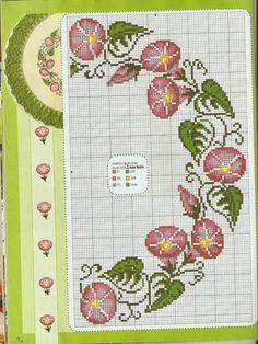 Κεντητά στρογγυλά τραπεζομάντηλα / Cross stitch round tablecloths