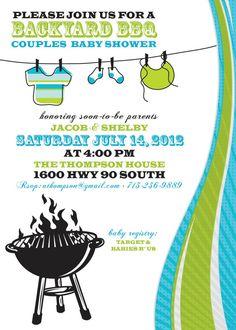Baby Shower Invitation BBQ Baby Shower by InvitingDesignStudio