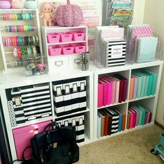 Colorful Craft Room Decoration Ideas is part of Organization bedroom Where exactly your space will be the issue to consider is You may have space So, now you have that organized, you'll need - Office Organization, Planner Organization, Organizing Ideas, Office Storage, Organization Ideas For Bedrooms, Stationary Organization, Makeup Organization, Craft Room Storage, Craft Rooms