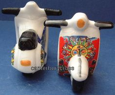 Scooter Salt and Pepper Shakers