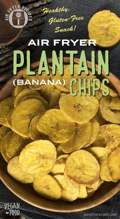 A delicious, healthy snack that is also vegan and gluten-free. It takes only 20 minutes to make with A delicious, healthy snack that is also vegan and gluten-free. It takes only 20 minutes to make with an air fryer. Yummy Healthy Snacks, Vegan Snacks, Vegan Recipes, Snack Recipes, Simple Snacks, Healthy Food, Banana Chips, Tips & Tricks, Packaging