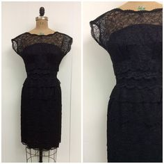 1950s Dress 50s Lace Party Dress Ferman O'Grady