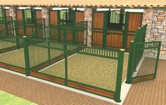 Miniature Horse Barns and Stalls | Mesh outrun panels and custom stall panels.