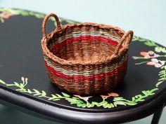 Hand woven miniature dollhouse wicker by Littledreamminiature
