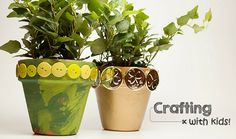 The stores are beginning to fill with bright, springy décor; and with winter (hopefully) on its way out, March signals the very beginning of our shift into warmer months. In anticipation of sunshine, here is a simple St. Patrick's Day-inspired project you can use to bring a little bit of early spring indoors. Once you've finished customizing your flower pots, let your children continue getting their hands dirty – by helping you pot your first plants of the year!