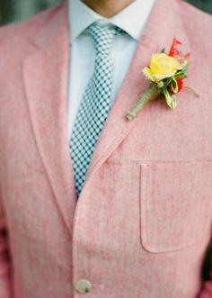groom boutonniere | photo by Jen Fariello | 100 Layer Cake