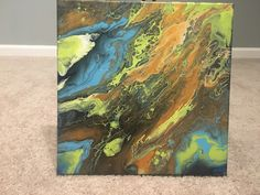 Excited to share the latest addition to my #etsy shop: Mineral Life by Listed Artist Tina Mitrousis-Bouris Lime,Blue,Brown http://etsy.me/2HN70eM #art #painting #green #blue #storytellermediallc