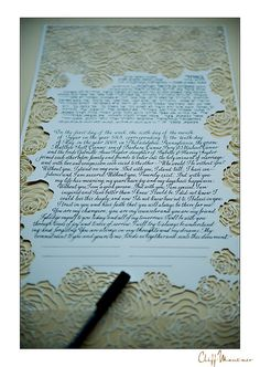 beautiful ketubah. i'm not jewish but i'm in love with this tradition!