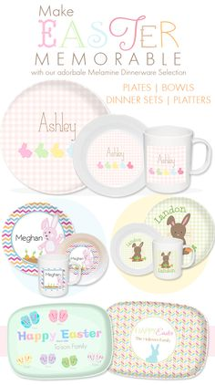 Looking to make Easter a memorable holiday for your kids? Personalize one of our many plates, dinnerware sets, or placemats and they'll have fond memories that will last forever. Shop our exclusive collection.