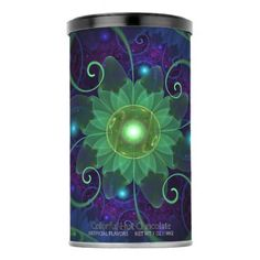 #Green Hot Cocoa with Blue-Green Lotus LilyPad Pond Powdered Drink Mix - #Chocolates #Treats #chocolate