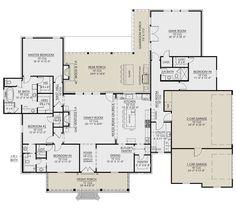 House Plans One Story, Best House Plans, Dream House Plans, Story House, House Floor Plans, Custom Floor Plans, Building Plans, Building A House, Building Ideas