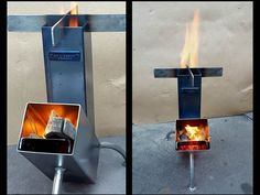 Discover thousands of images about Rocket stove. Outdoor Stove, Outdoor Fire, Metal Projects, Welding Projects, Coleman Stove, Diy Rocket, Stove Parts, Fire Pit Grill, Stove Heater