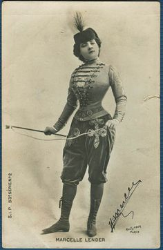 Pretty Lady Marcelle Lender in 1904Photo by Reutlinger (also painted by Toulouse-Lautrec)