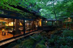 kurokawa onsen japan off the beaten path snakku ryokan sanga Japanese Home Design, Japanese Style House, Traditional Japanese House, Japanese Interior, Japanese Mansion, Japanese Homes, Japanese Gardens, Kumamoto, Kyushu
