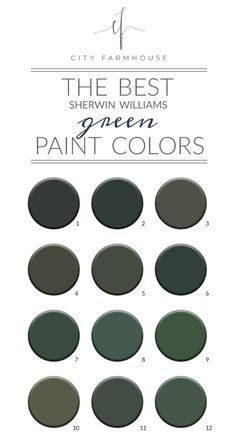The Best Sherwin-Williams Green Paint Colors + Credenza Update - City Farmhouse - My Dream Life Green Exterior Paints, Exterior Paint Colors, Exterior House Colors, Green Paint Colors, Bedroom Paint Colors, Paint Colors For Home, Green Shutters, City Farmhouse, Modern Farmhouse