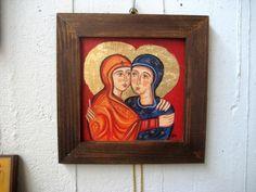 Saint Elisabeth Embracing Virgin Mary