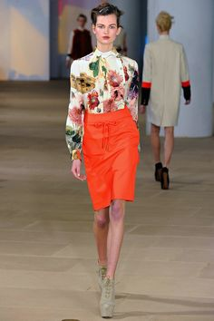 Preen Fall 2012 Floral Prints Inspired by Beatrix Potter Botanical Drawings and Victorian Pressed Flower Albums
