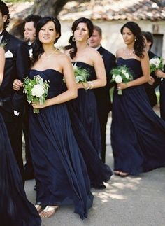 Color Inspiration: Midnight Blue and Navy Wedding Ideas - MODwedding