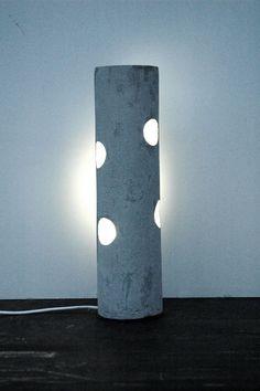 Concrete Lamp By Barbora Tobolova #design #lamp Lampe Beton, Beleuchtung,  Nacht,