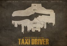 Taxi Driver - minimal movie poster - Edward Julian Moran II