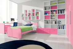 I wouldn't mix those shades of pink and green in a bedroom but its a nice layout