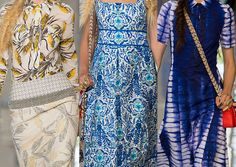 Tory Burch SS2013-Country Chic / Prairie Florals / Embroidered Folk / Tribal and Travel Mixes / Tie Dye Effects