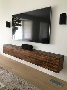 Stylish modern Floating TV Console with 2 Felt Lined Drawers looking to achieve storage while maintaining a minimalist look? These Floating TV Console can be used in entryways, living or bedroom areas as perfect storage solutions while taking up very little space. Available in a