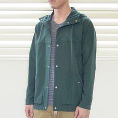 YAECA - 60/40 Cloth Hood Shirt GREEN