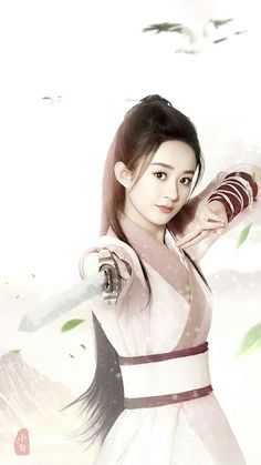 赵丽颖。。 Katana Girl, Best Profile Pictures, Princess Agents, Manga Hair, Zhao Li Ying, Fresh Girls, Warrior Girl, Beautiful Anime Girl, Chinese Actress