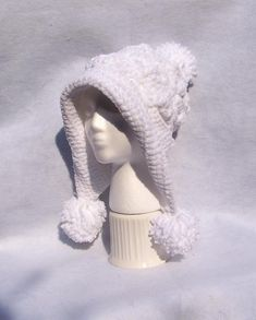 (4) Name: 'Crocheting : Frozen Snow Hat