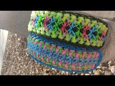 New! Carnival Twist Bracelet on Rainbow Loom - YouTube Uses 5 pin bars
