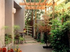Love! Cafe Table and Chairs + Pergola. >> http://www.diynetwork.com/outdoors/design-tips-for-beautiful-pergolas/pictures/index.html?soc=pinterest#