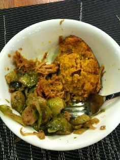 CrossFit Camily Leblanc-Bazinet Pulled pork, brussels sprout and sweet potato pancake Paleo Power Meals