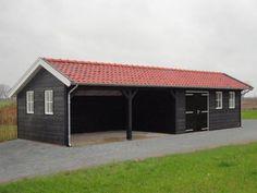 x Barn Garage, Garage Workshop, Carport With Storage, Main Gate Design, Garage Addition, Maine House, Shed, Outdoor Structures, Patio