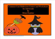 2nd Grade Halloween Reading and Math Centers and Worksheets