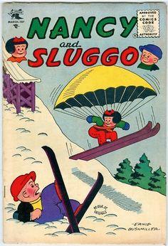 Nancy & Sluggo #130 March 1956